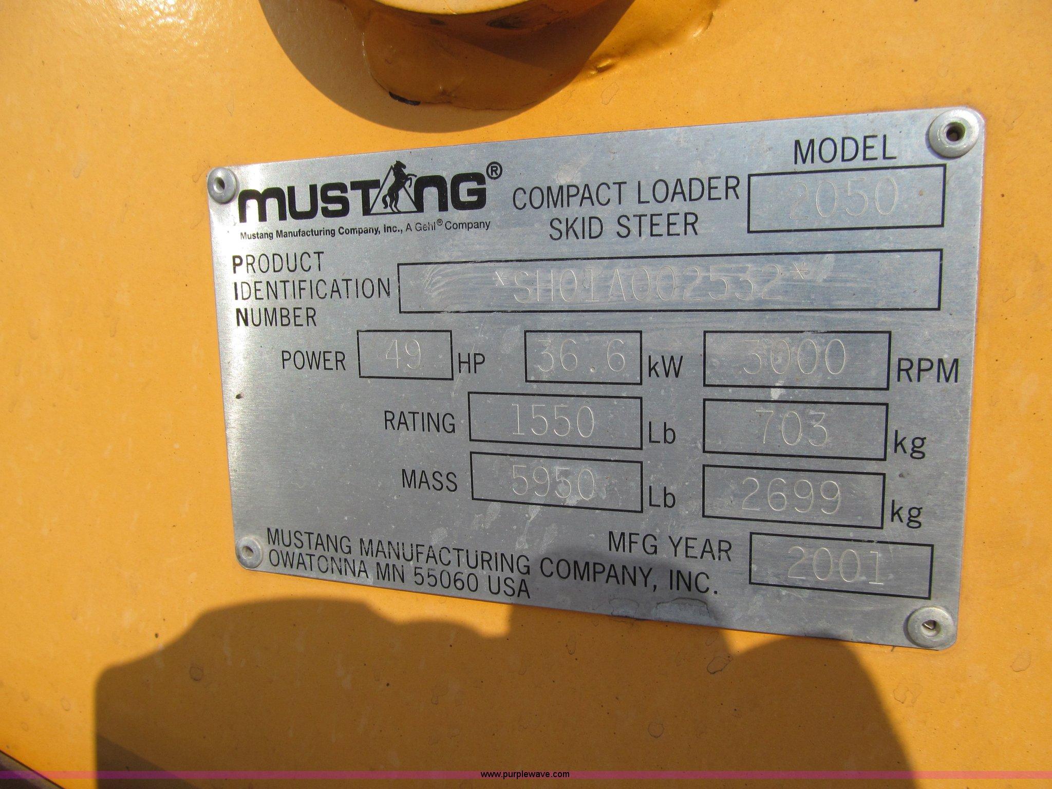 2001 Mustang 2050 Skid Steer In Anita  Ia