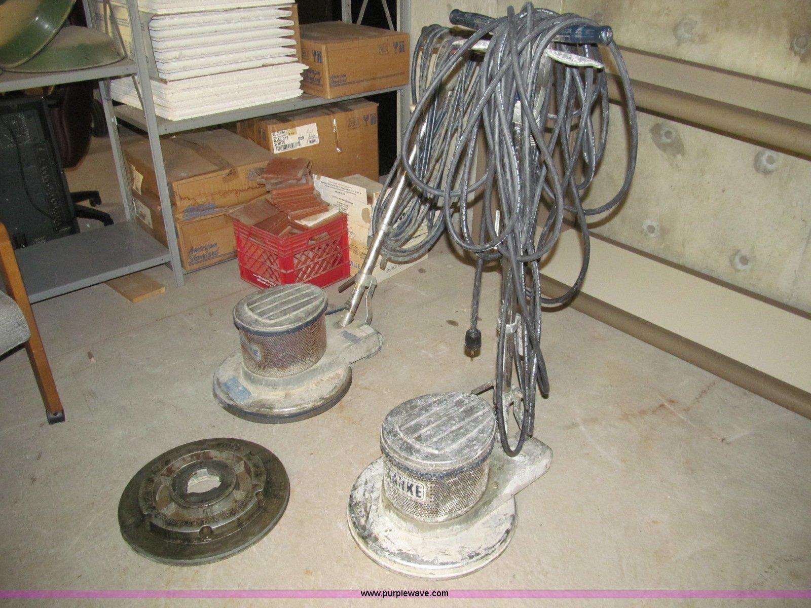 2) clarke c18 floor buffer | item bd9667 | sold! december 2