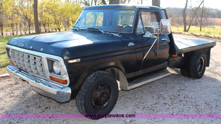 1978 Ford F350 Custom Flatbed Pickup Truck No Reserve