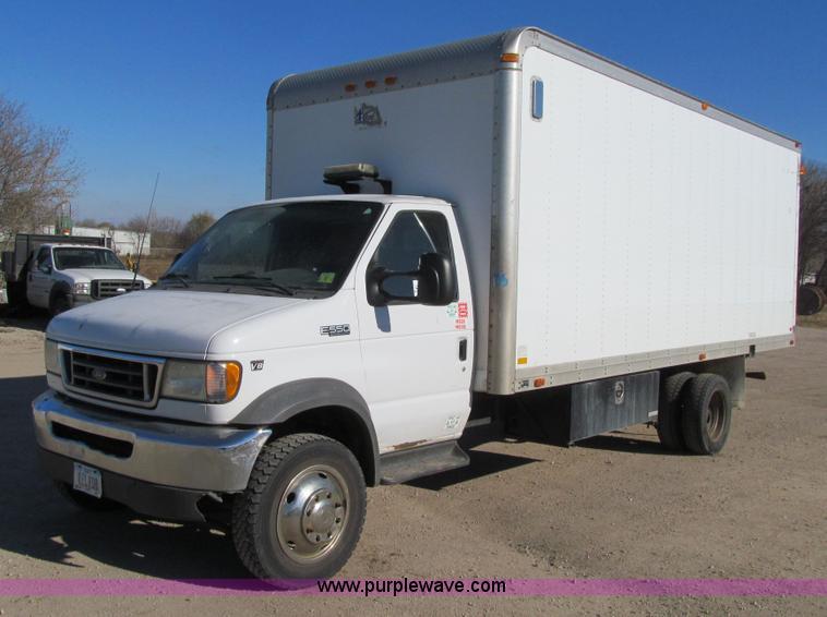 2002 ford econoline e550 box truck item j3357 sold dece. Black Bedroom Furniture Sets. Home Design Ideas