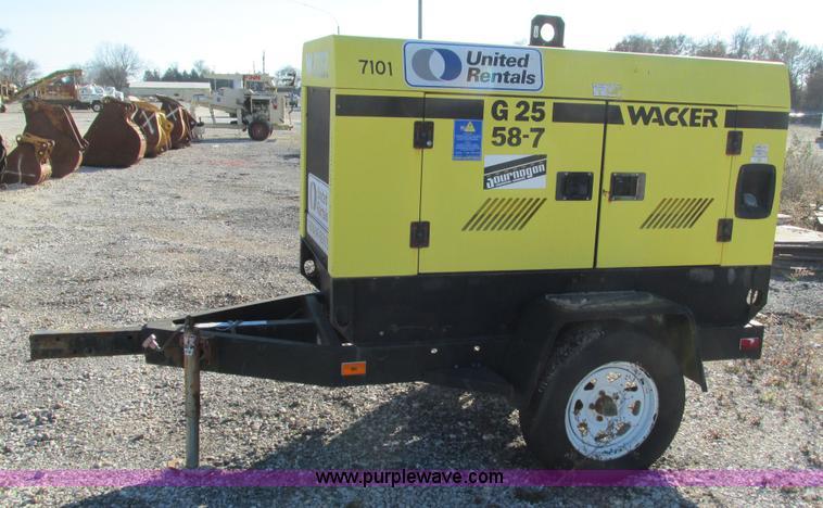 Wacker G25 towable generator | Item I3175 | SOLD! December 1