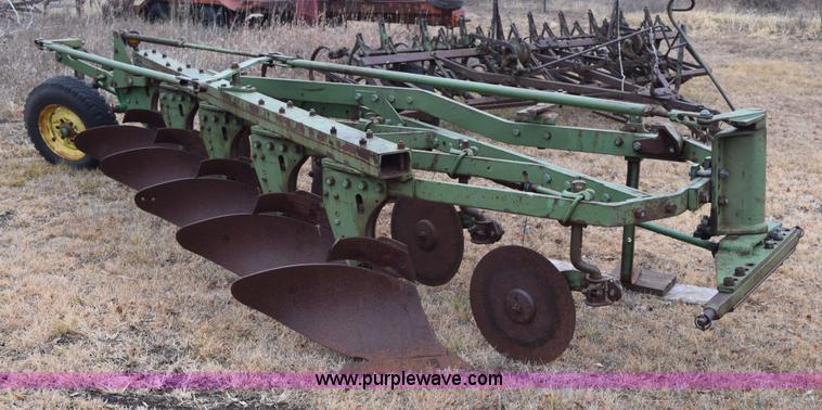 John Deere semi mount five bottom plow | Item AY9048 | SOLD!...