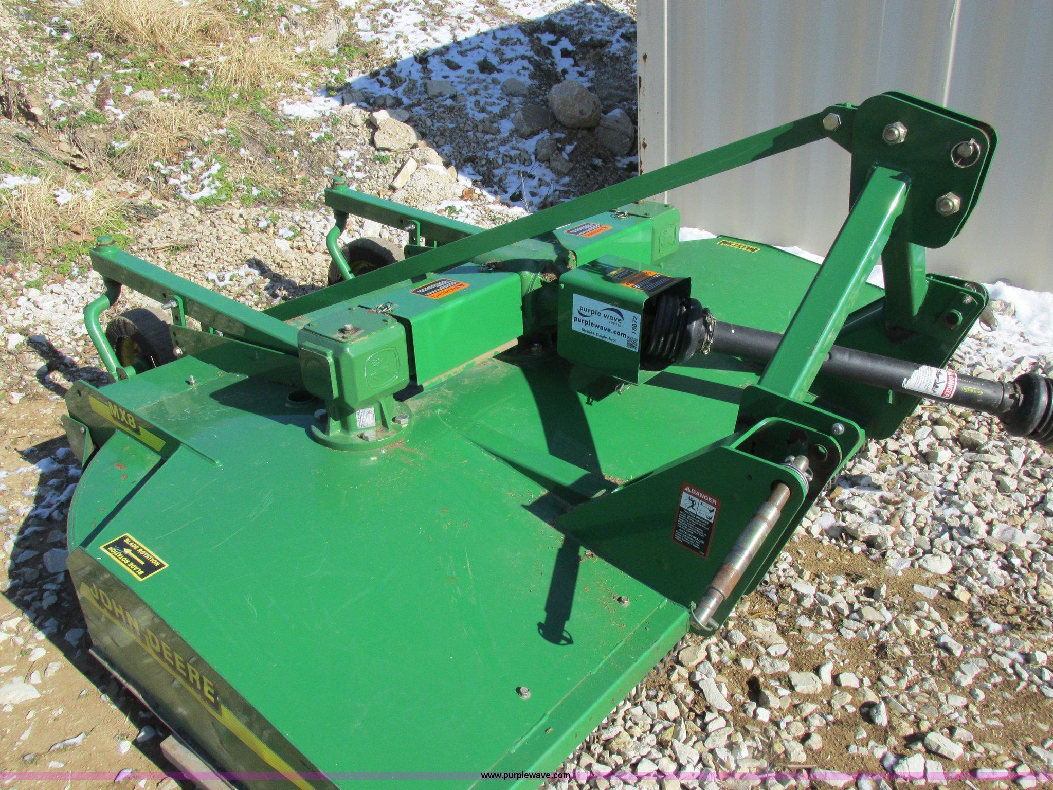 John Deere MX8 rotary mower | Item I8872 | SOLD! December 30