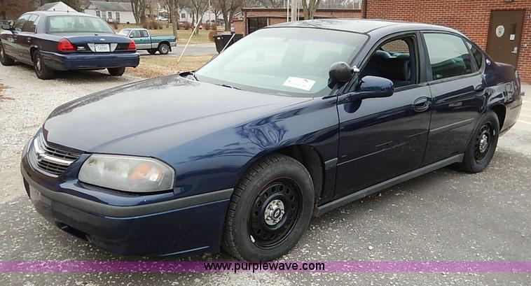 2001 chevrolet impala item i5191 sold january 6 governm 2004 Chevrolet Impala i5191 image for item i5191 2001 chevrolet impala
