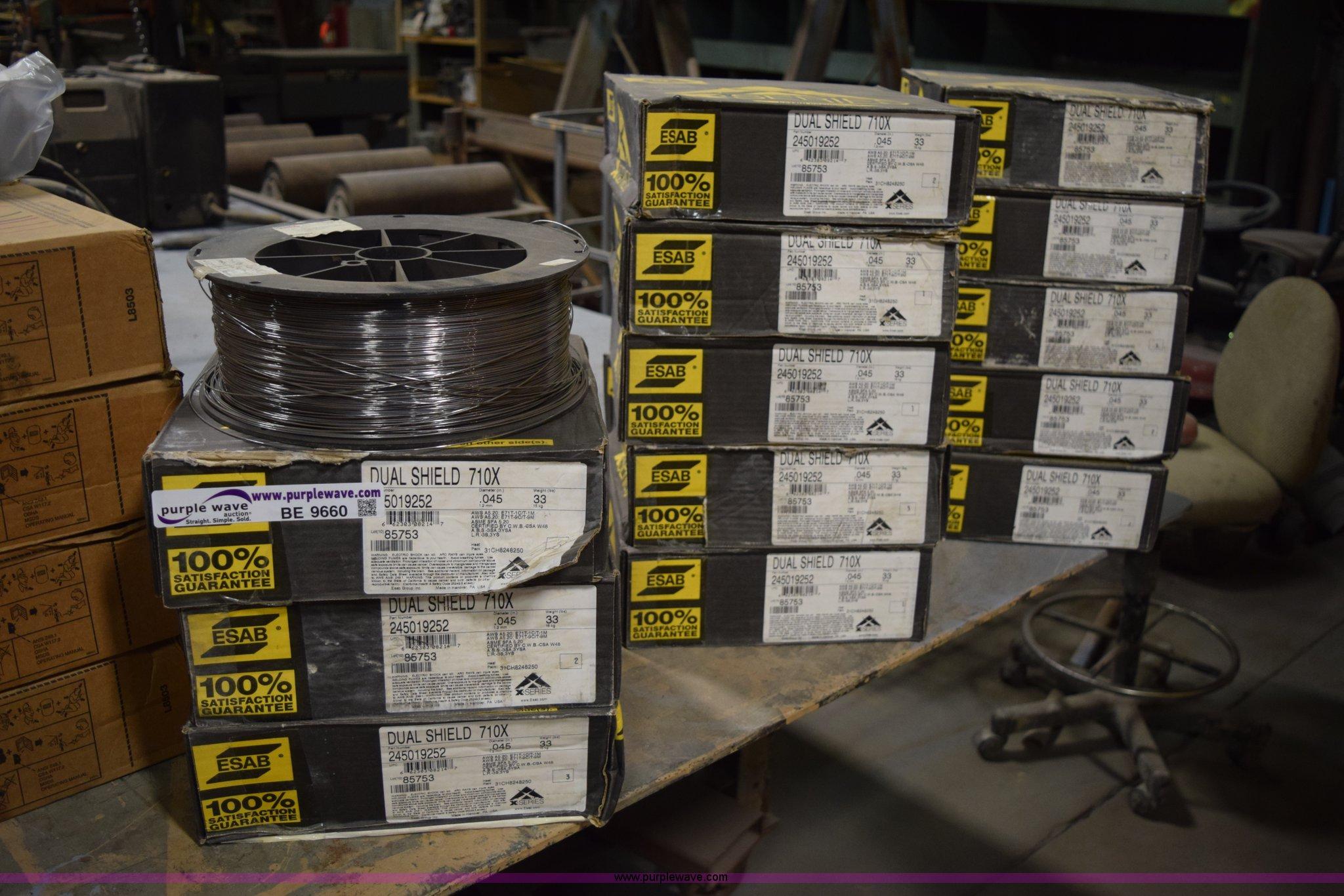 Dual Shield Welding Wire | 14 Esab Dual Shield 710x Welding Wire Spools Item Be9660