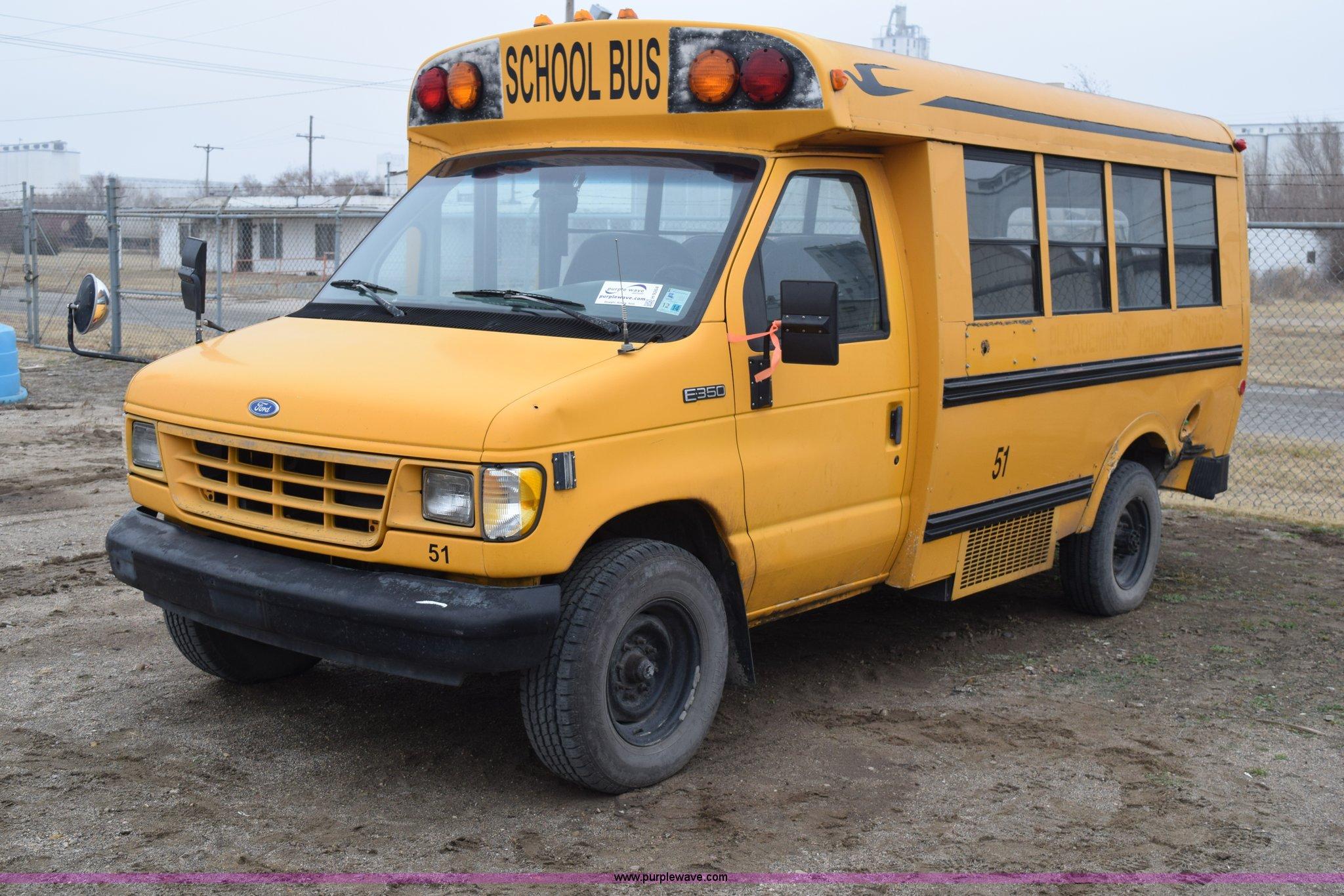 1993 ford econoline e350 blue bird bus item h9264 sold