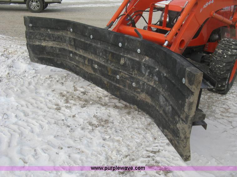 Shop built 9' rubber blade snow plow | Item K2771 | SOLD! Ja