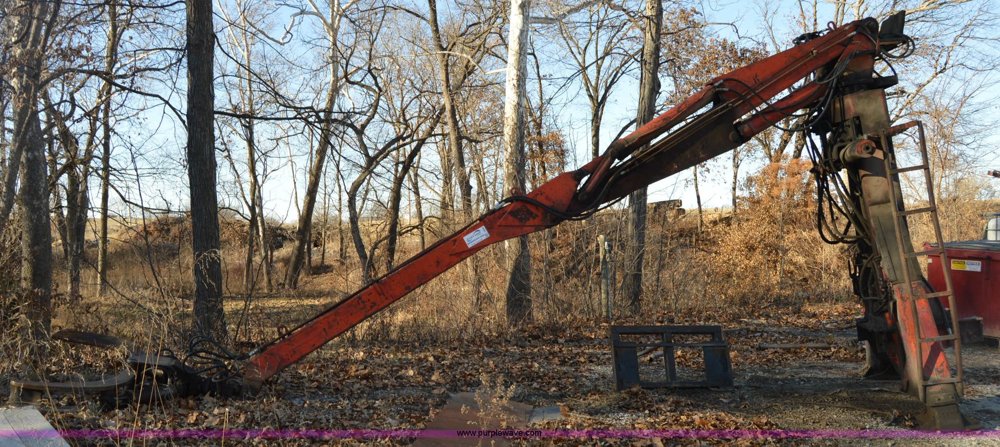 Prentice 110 truck mounted log grapple   Item I6869   SOLD!