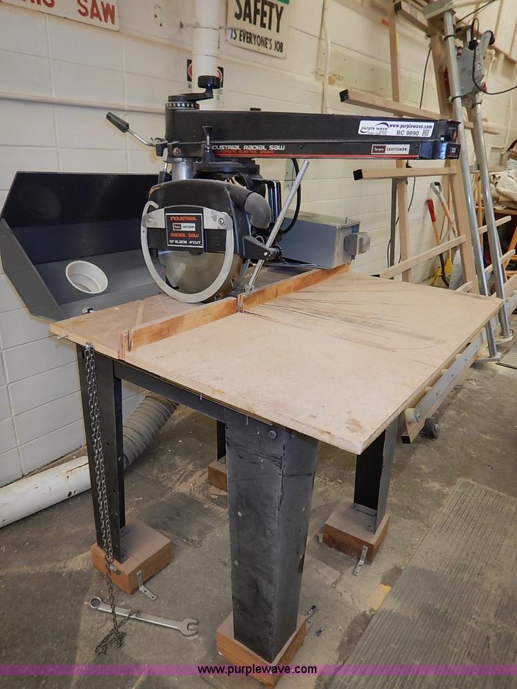 Craftsman industrial 12 radial arm saw item bc9890 for Manhattan motors manhattan ks