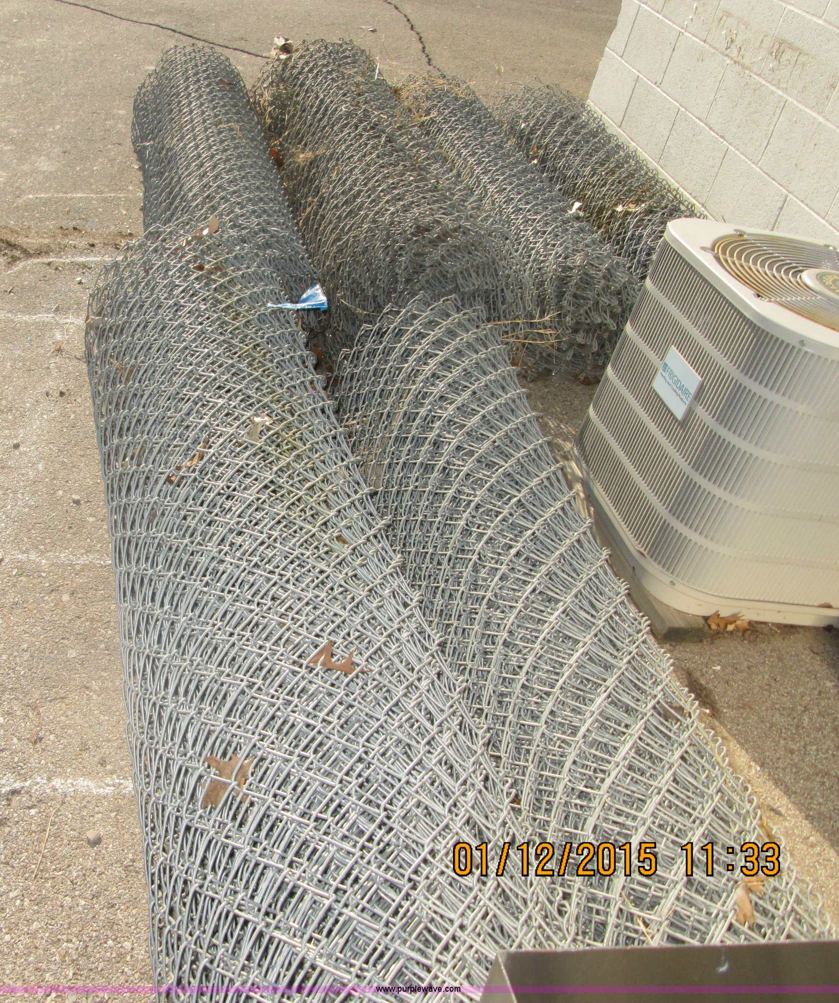 6) 6\' rolls of chain link fencing   Item D1372   SOLD! Febr...