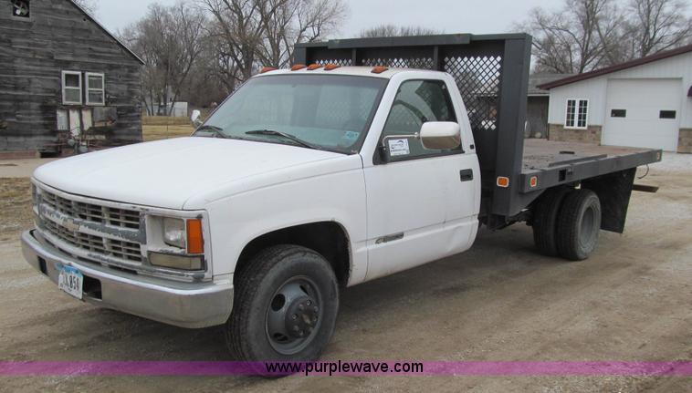 1997 Chevrolet 3500 flatbed pickup truck   Item J3323   SOLD