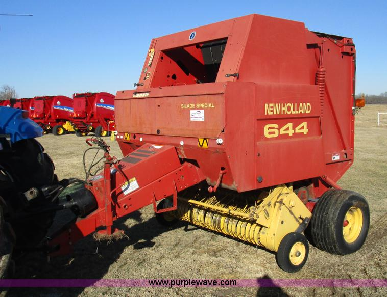 1997 new holland 644 round baler item d2313 sold march rh purplewave com new holland 644 baler operators manual Old New Holland Balers