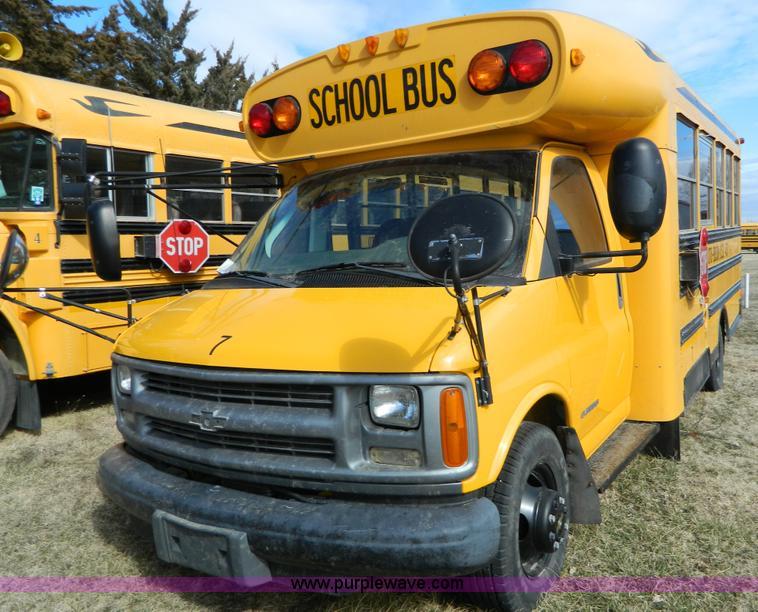 2002 Chevrolet Express G3500 school bus  Item D6113  SOLD