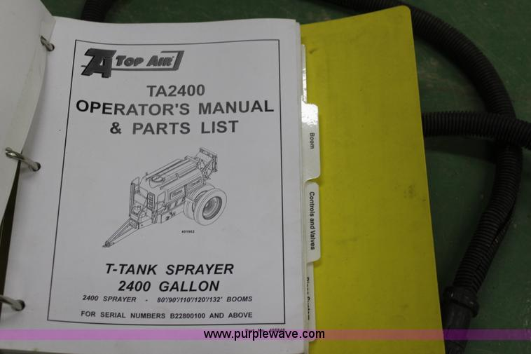 K7168ZT 2007 top air ta2400 pull type track sprayer item k7168 s  at panicattacktreatment.co