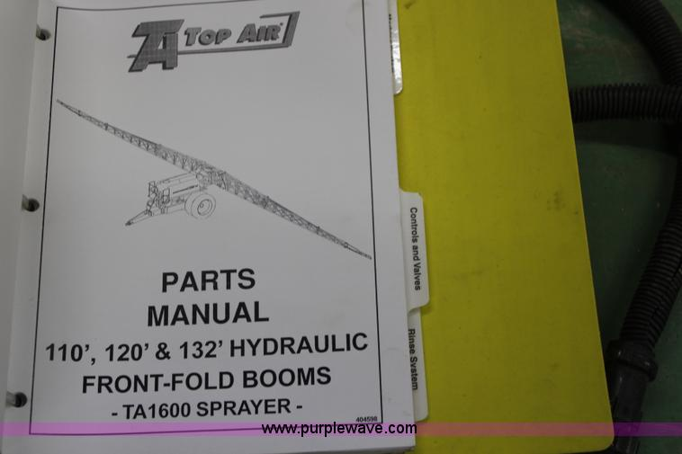 K7168ZU 2007 top air ta2400 pull type track sprayer item k7168 s  at panicattacktreatment.co