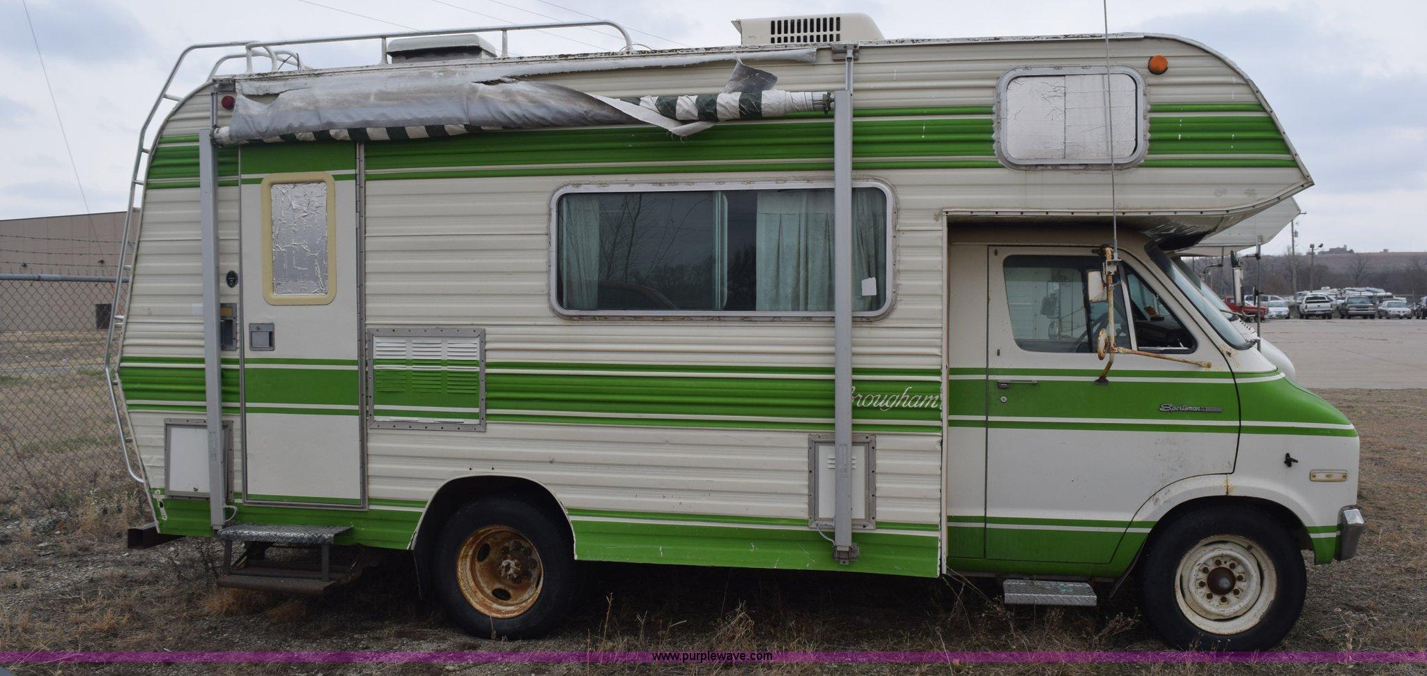 1975 Dodge Sportsman camper | Item K7245 | SOLD! April 21 Ft