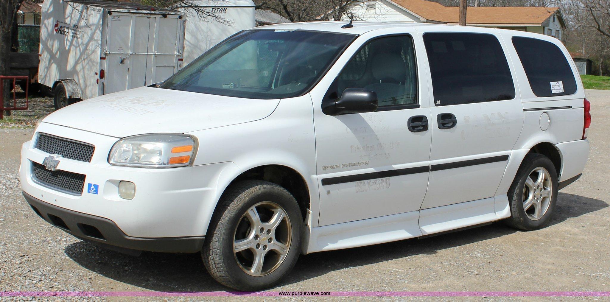 2007 Chevrolet Uplander Cargo Van Item J2271 Sold April Gmc Savana Image For