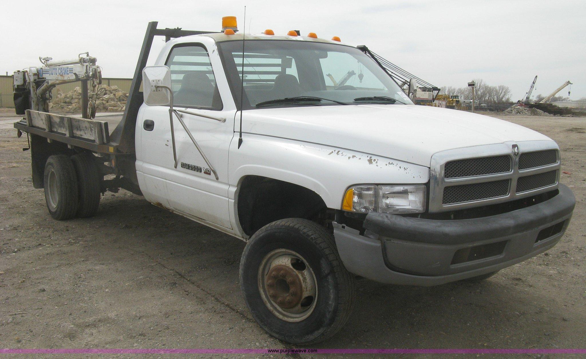 1996 dodge ram 3500 flatbed truck in wichita ks item k2988 sold purple wave 1996 dodge ram 3500 flatbed truck in