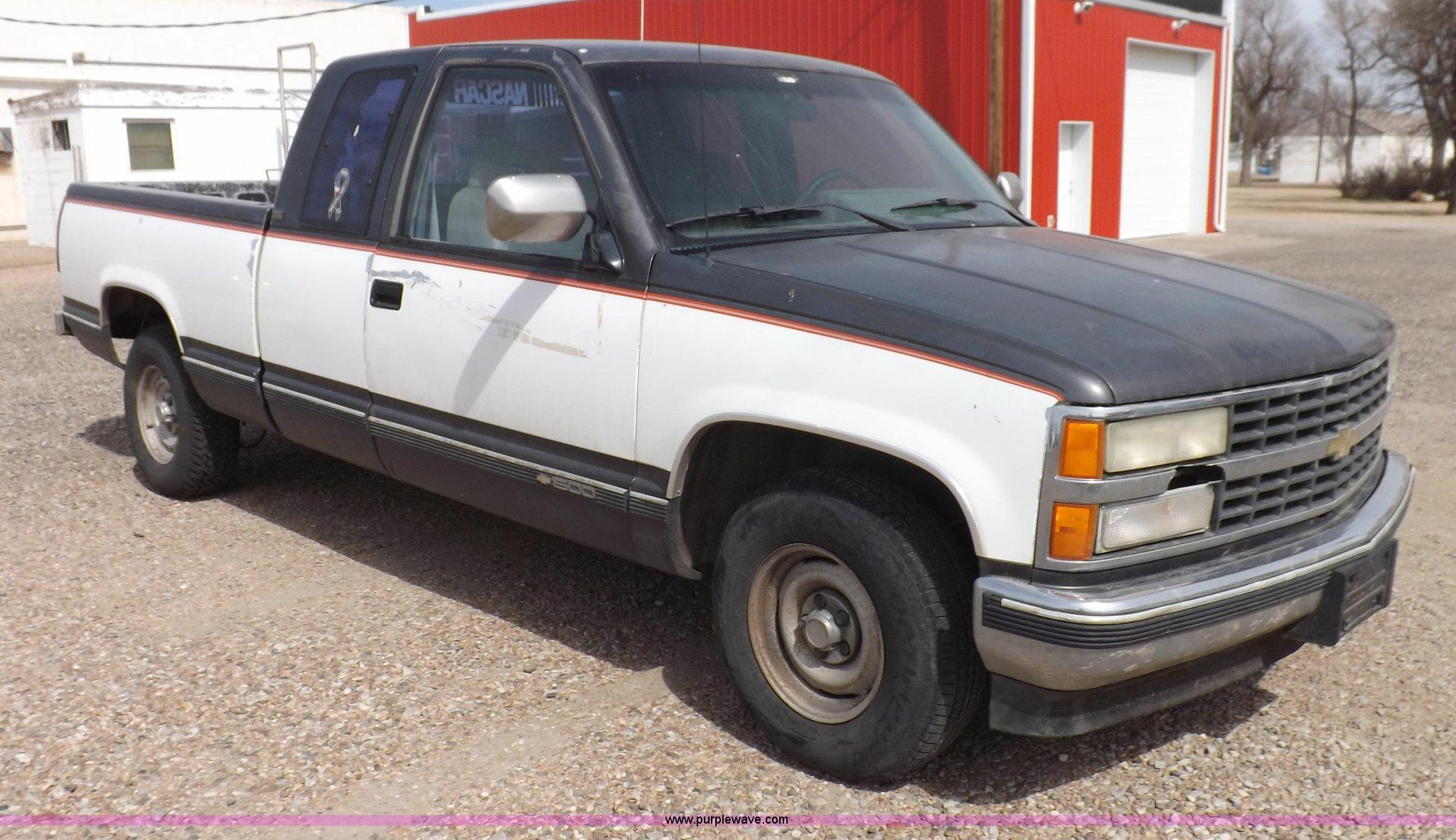 1992 chevrolet silverado 1500 ext. cab pickup truck | item k