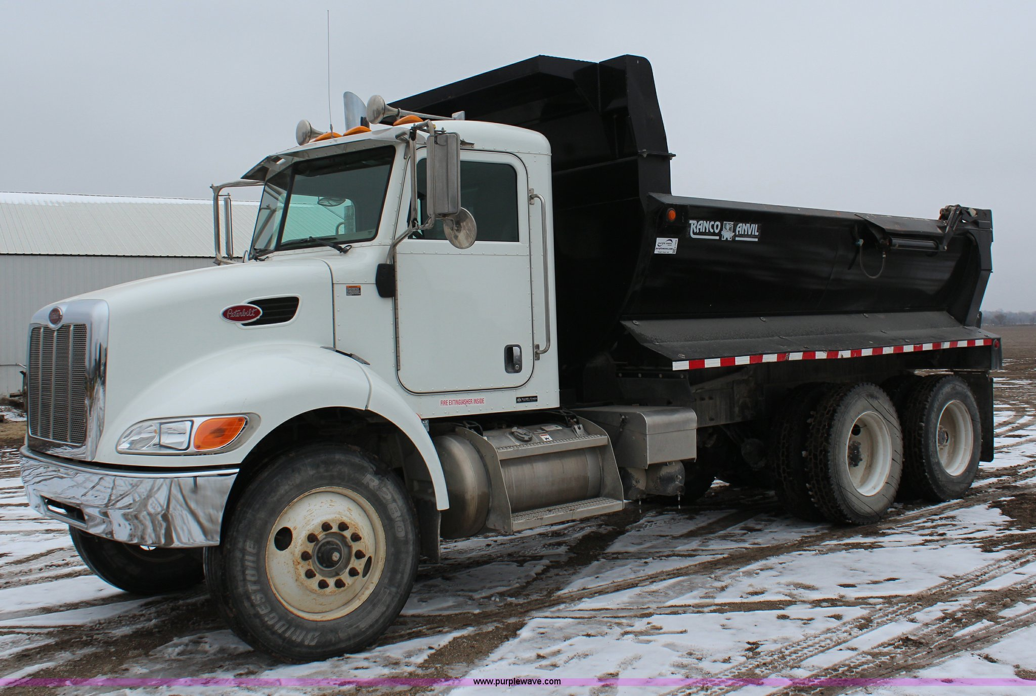 2008 peterbilt 340 dump truck item k7028 sold april 23 full size in new window sciox Images