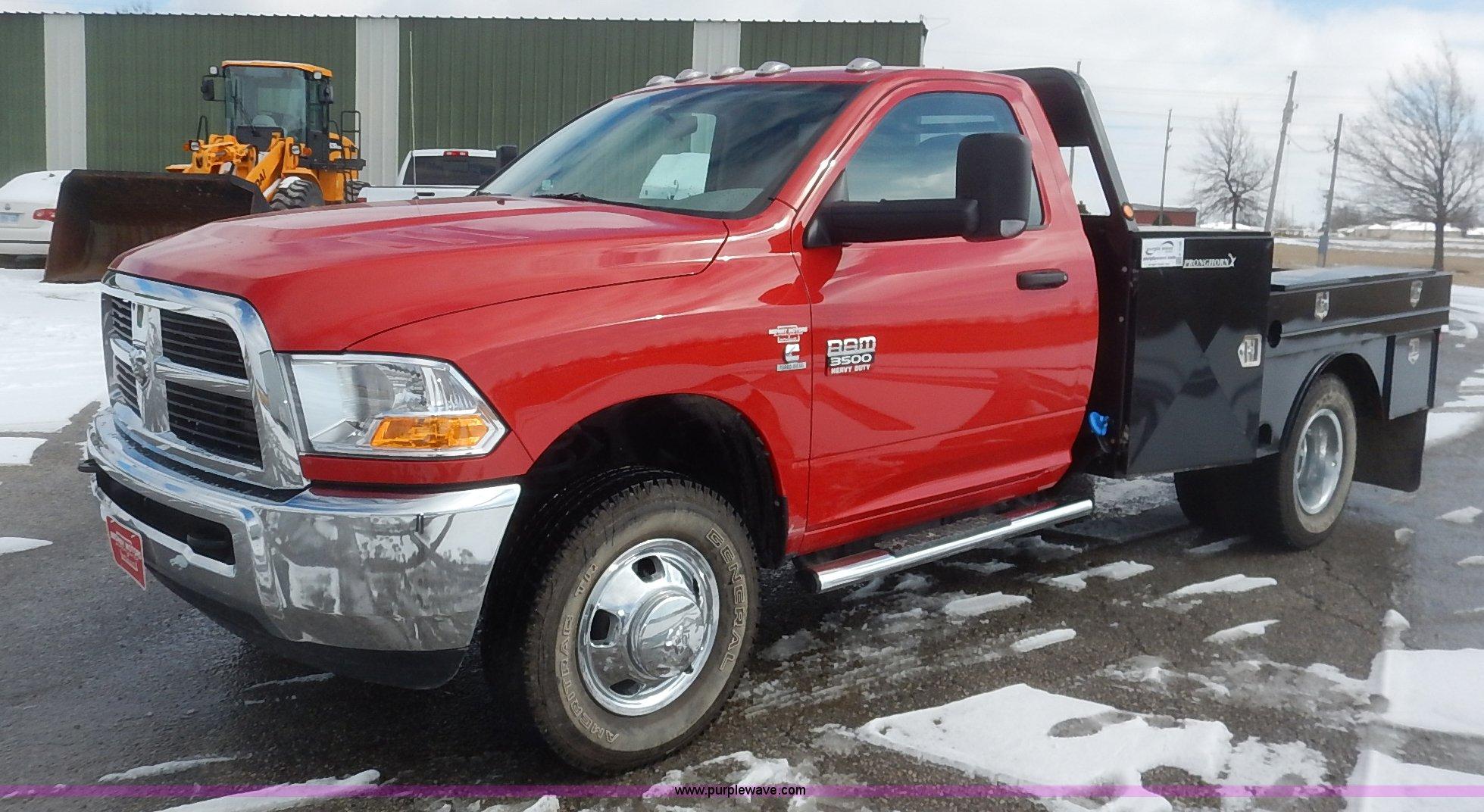 2011 Dodge Ram 3500 Flatbed Truck In Ottawa Ks Item K7140 Sold Purple Wave