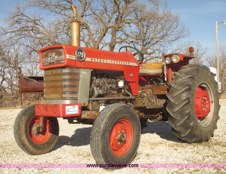 Massey 175 Diesel : Massey ferguson row crop tractor item h