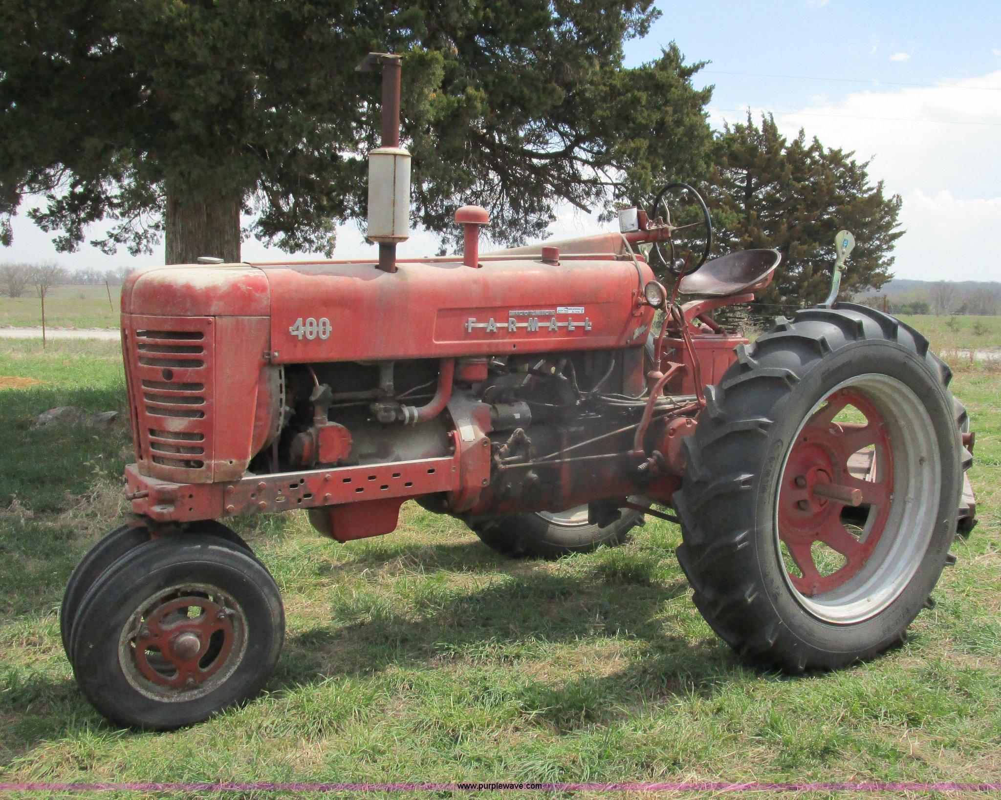 Farmall 400 Tractor : Mccormick farmall tractor item ba sold