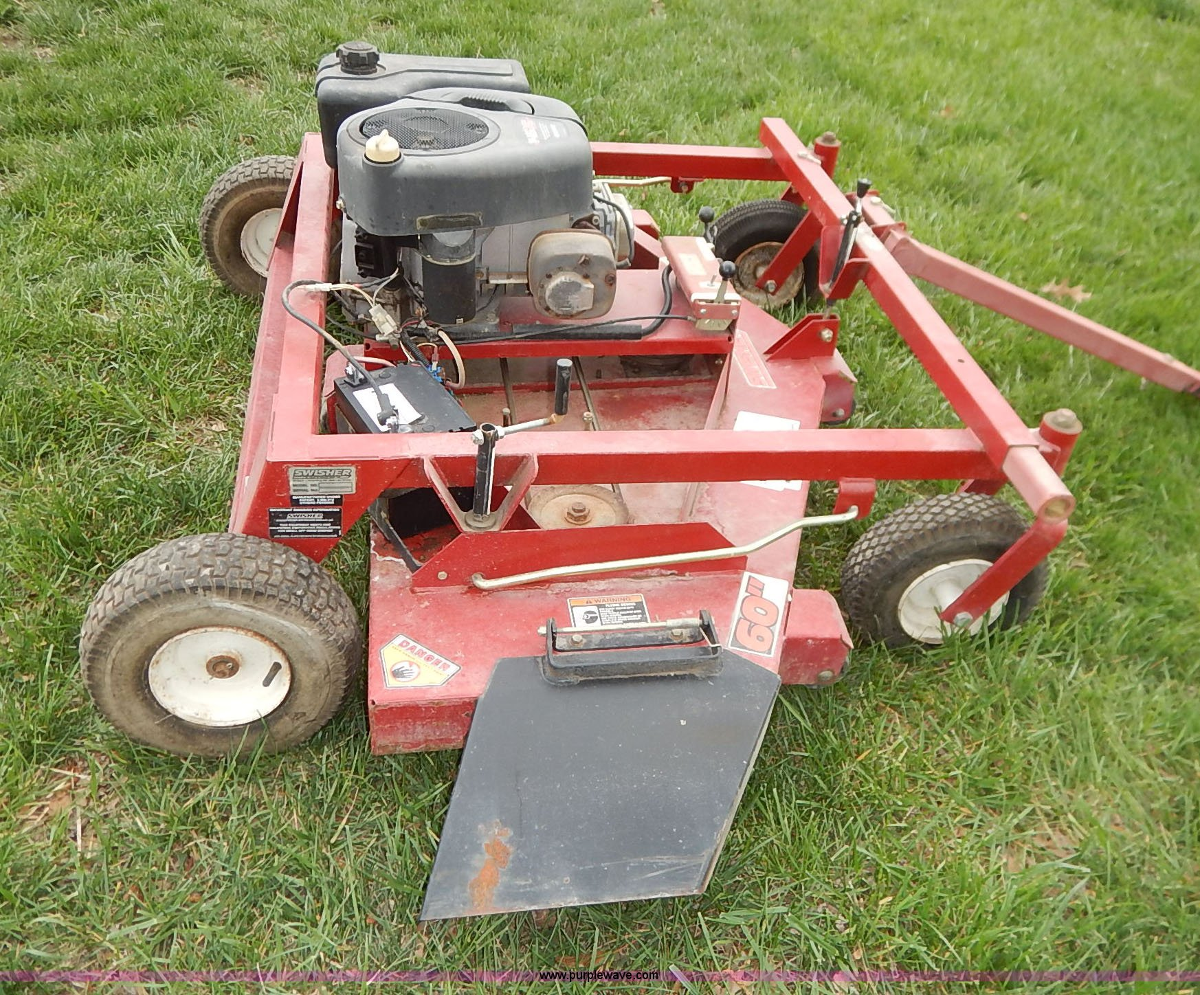 Swisher pull behind lawn mower   Item K7410   SOLD! April 29