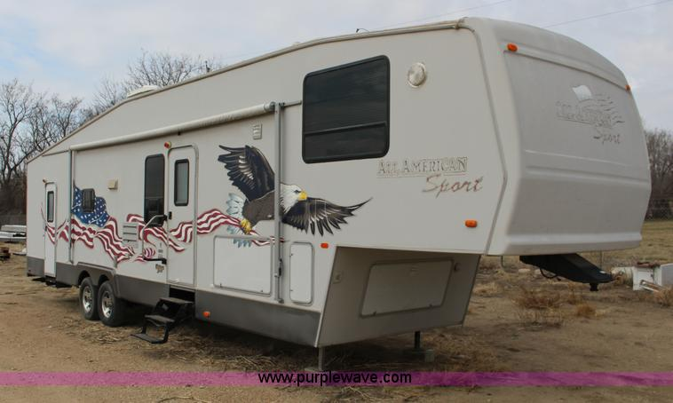 F7633 Image For Item 2005 All American Sport Fifth Wheel Toy Hauler Camper