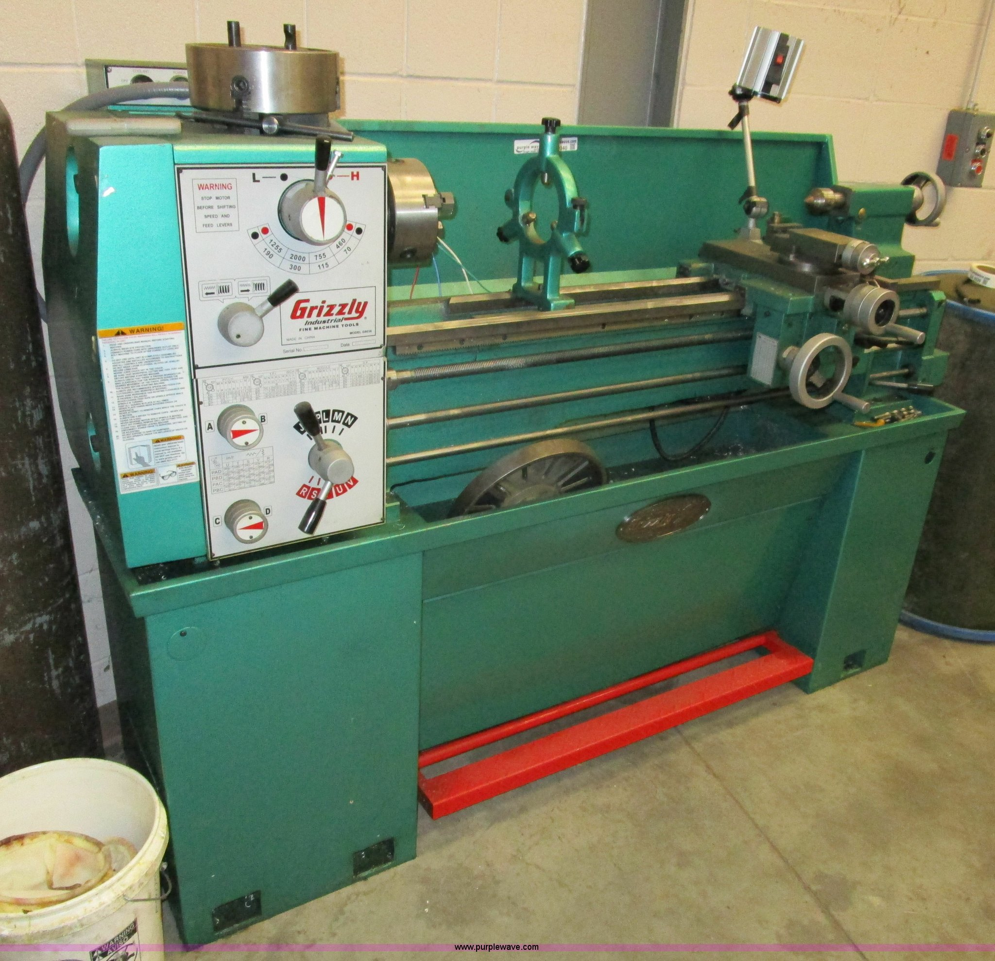 Grizzly G9036 floor lathe   Item BA9340   SOLD! May 5 Govern