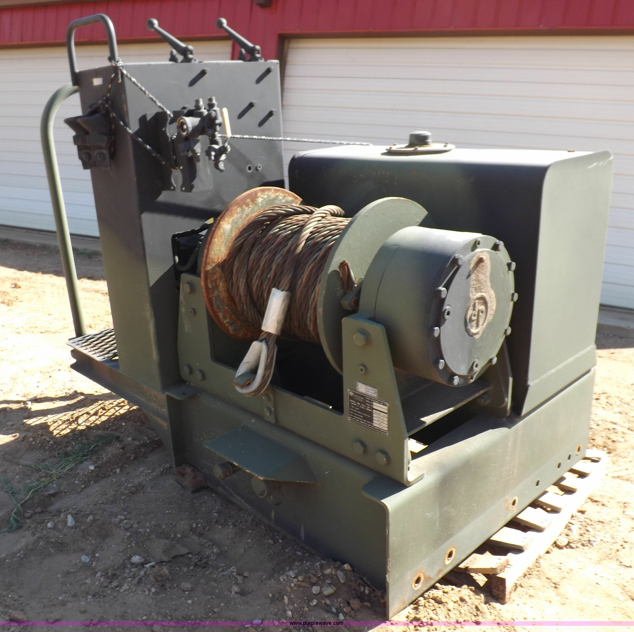DP Manufacturing hydraulic winch assembly | Item K3816 | SOL
