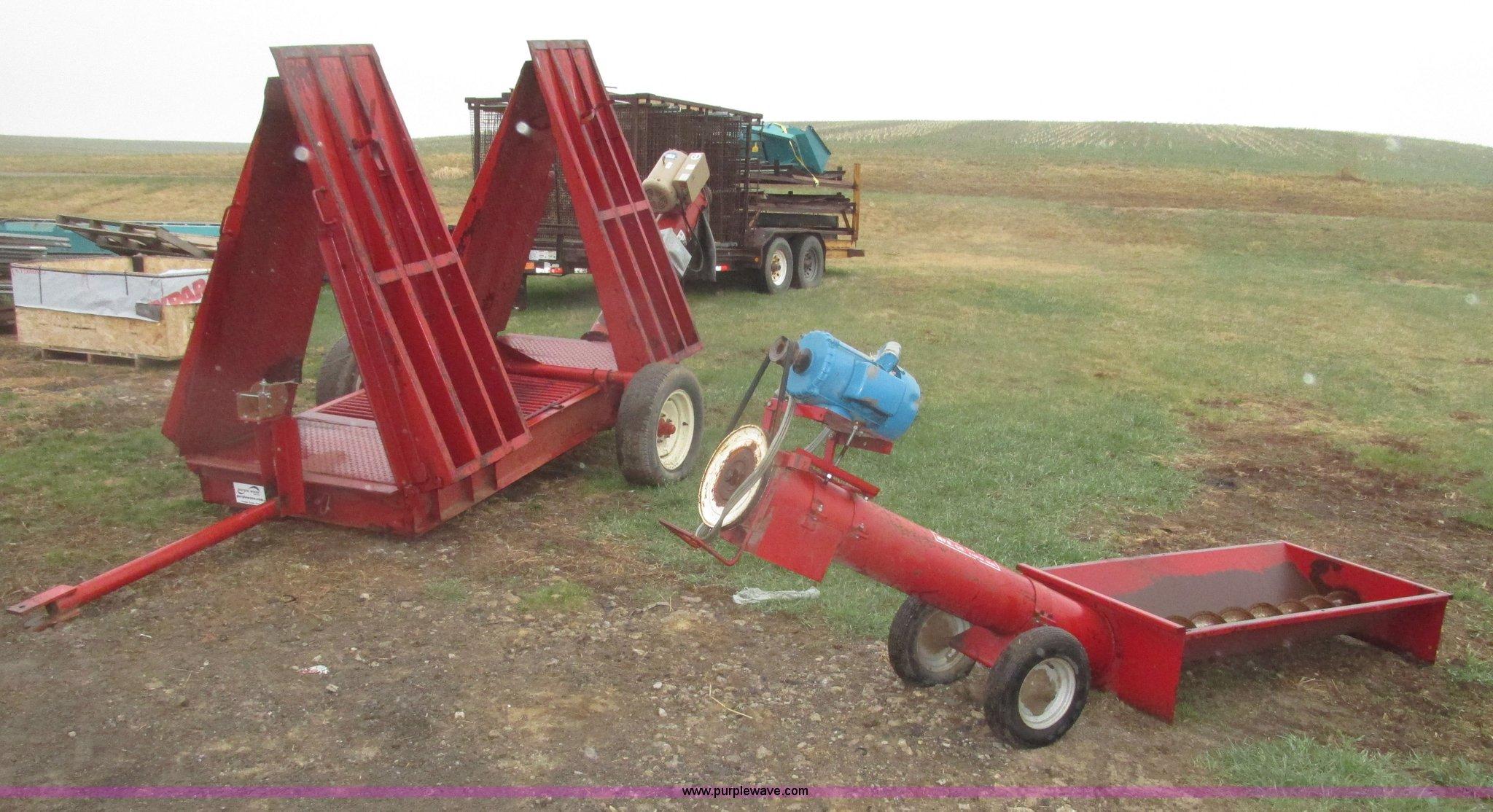 2) portable grain handling equipment   Item H4695   SOLD! M