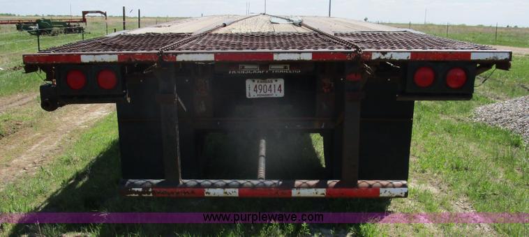 1993 Transcraft TL120 flatbed trailer   Item D2427   SOLD! M