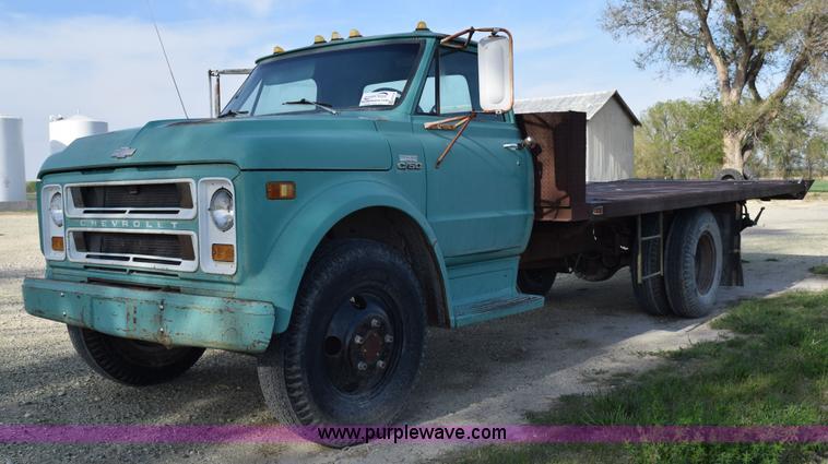 1970 Chevrolet C60 Flatbed Dump Truck Item H5118 Sold