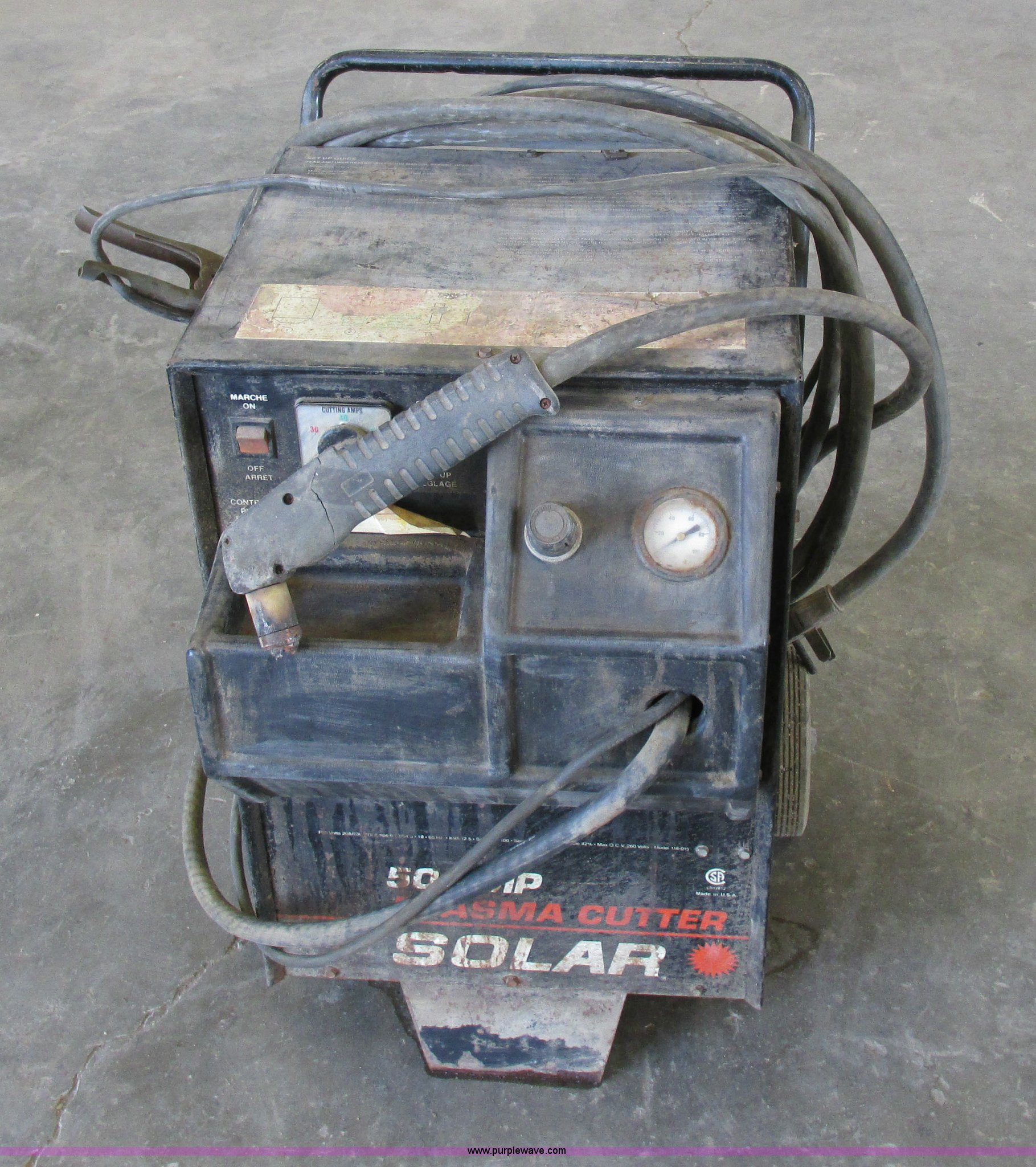 Solar 50 amp plasma cutter | Item AW9699 | SOLD! May 20 Vehi...