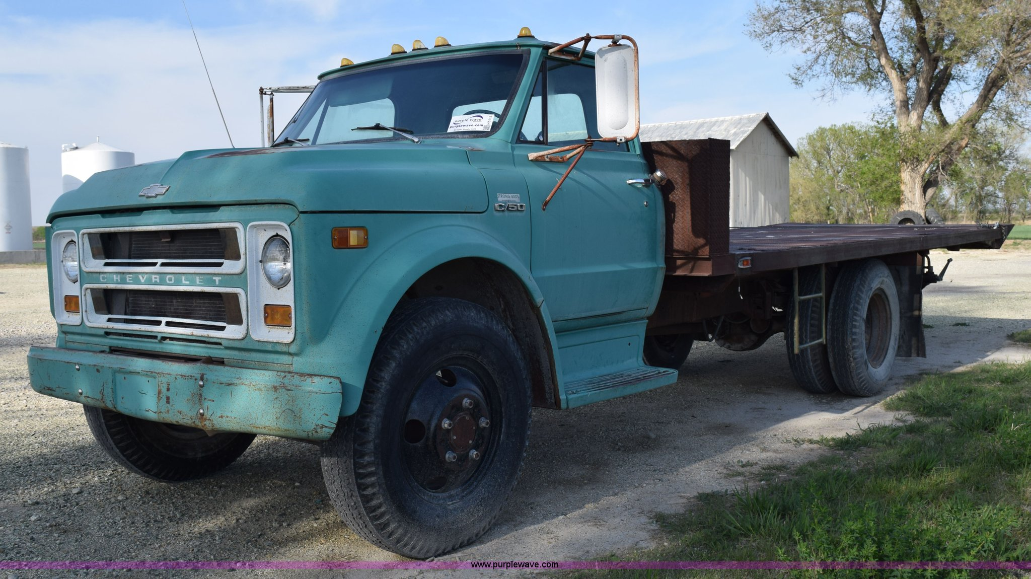 1970 Chevrolet C60 Flatbed Dump Truck Item H5118 Sold