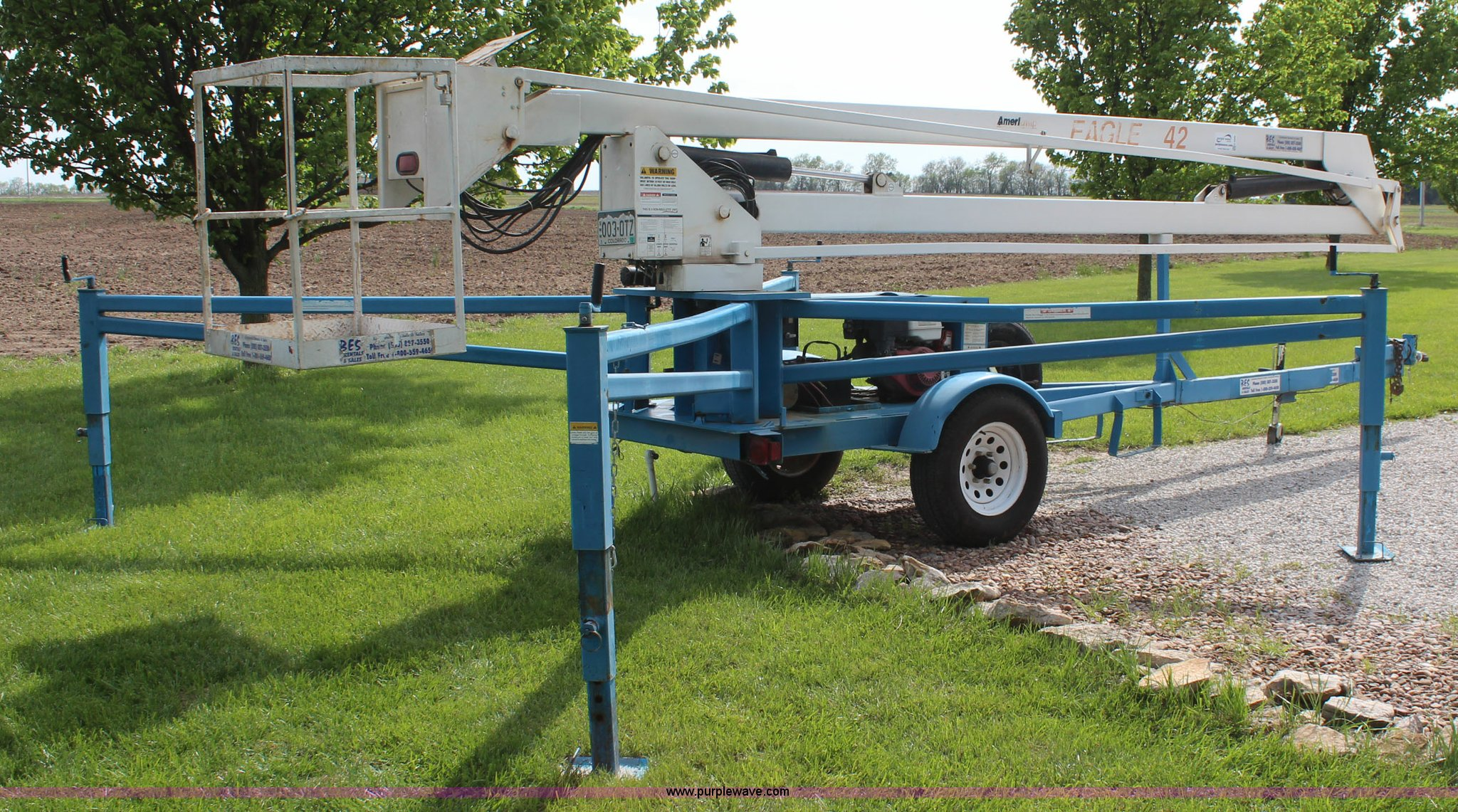 Eagle 2 45 Lift Wiring Diagram Will Be A Thing Wheelchair 1999 Ameriquip 42 Towable Boom Item K6999 Sol Rh Purplewave Com Stair Diagrams