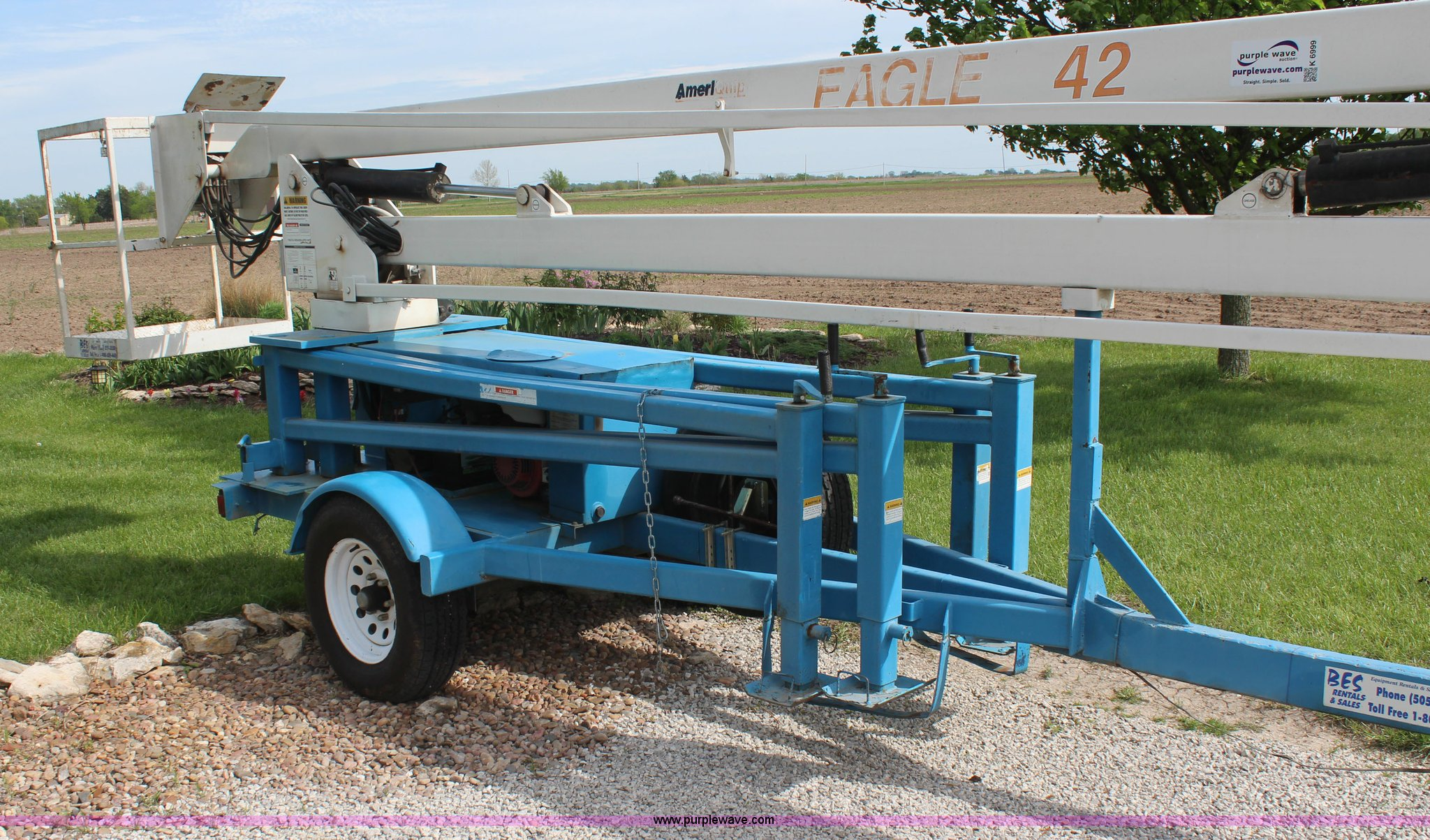 1999 Ameriquip Eagle 42 towable boom lift | Item K6999 | SOL