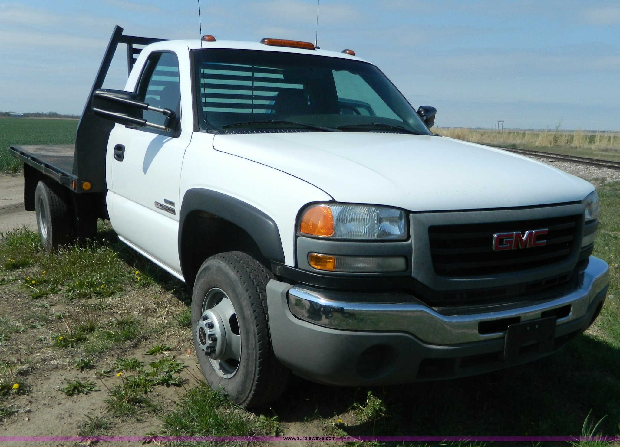 2006 Gmc Sierra 3500 Flatbed Pickup Truck Item K8066 Sol Dodge Wiring Full Size In New Window
