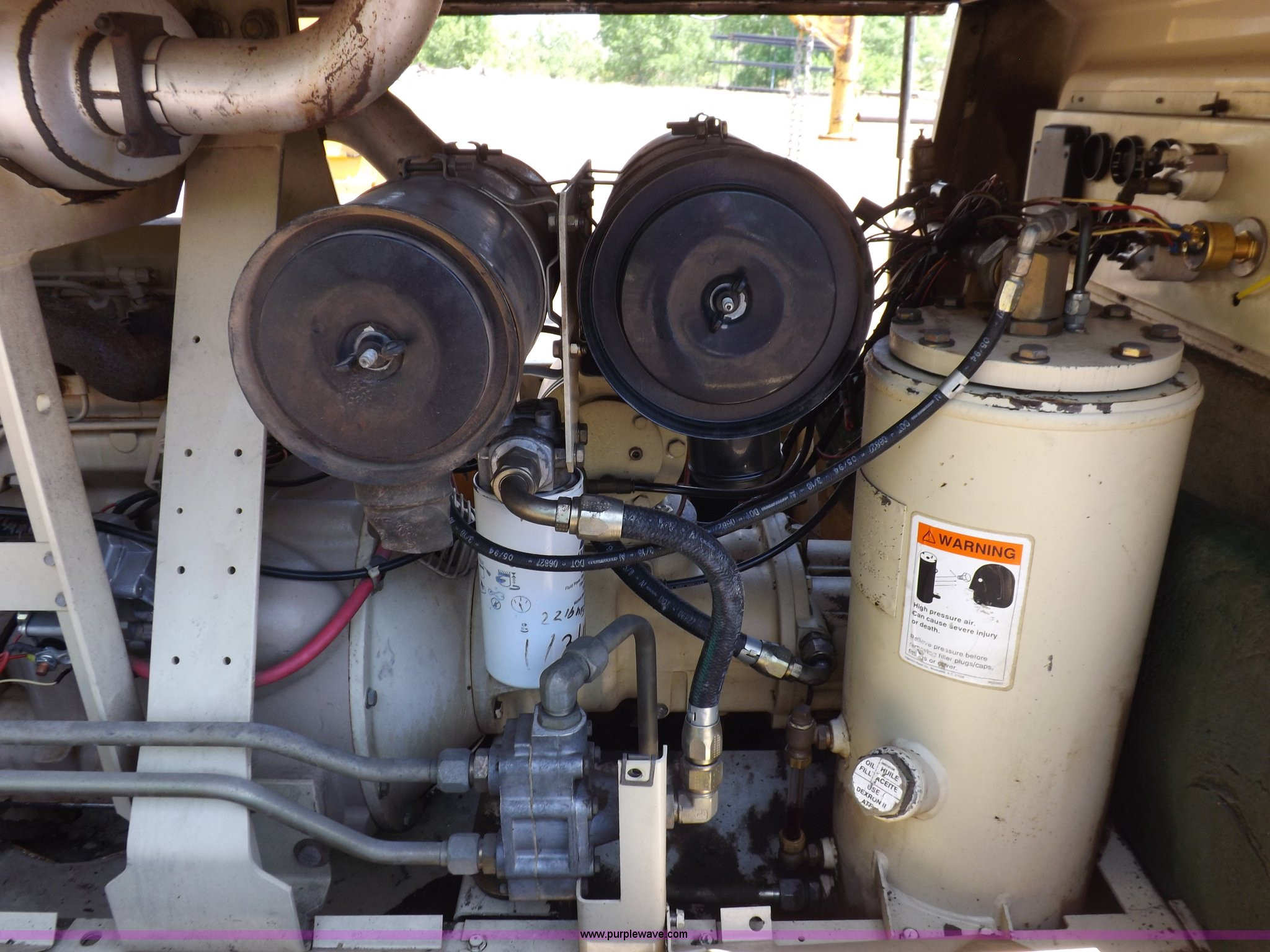 ... Ingersoll Rand P250WJD air compressor Full size in new window ...