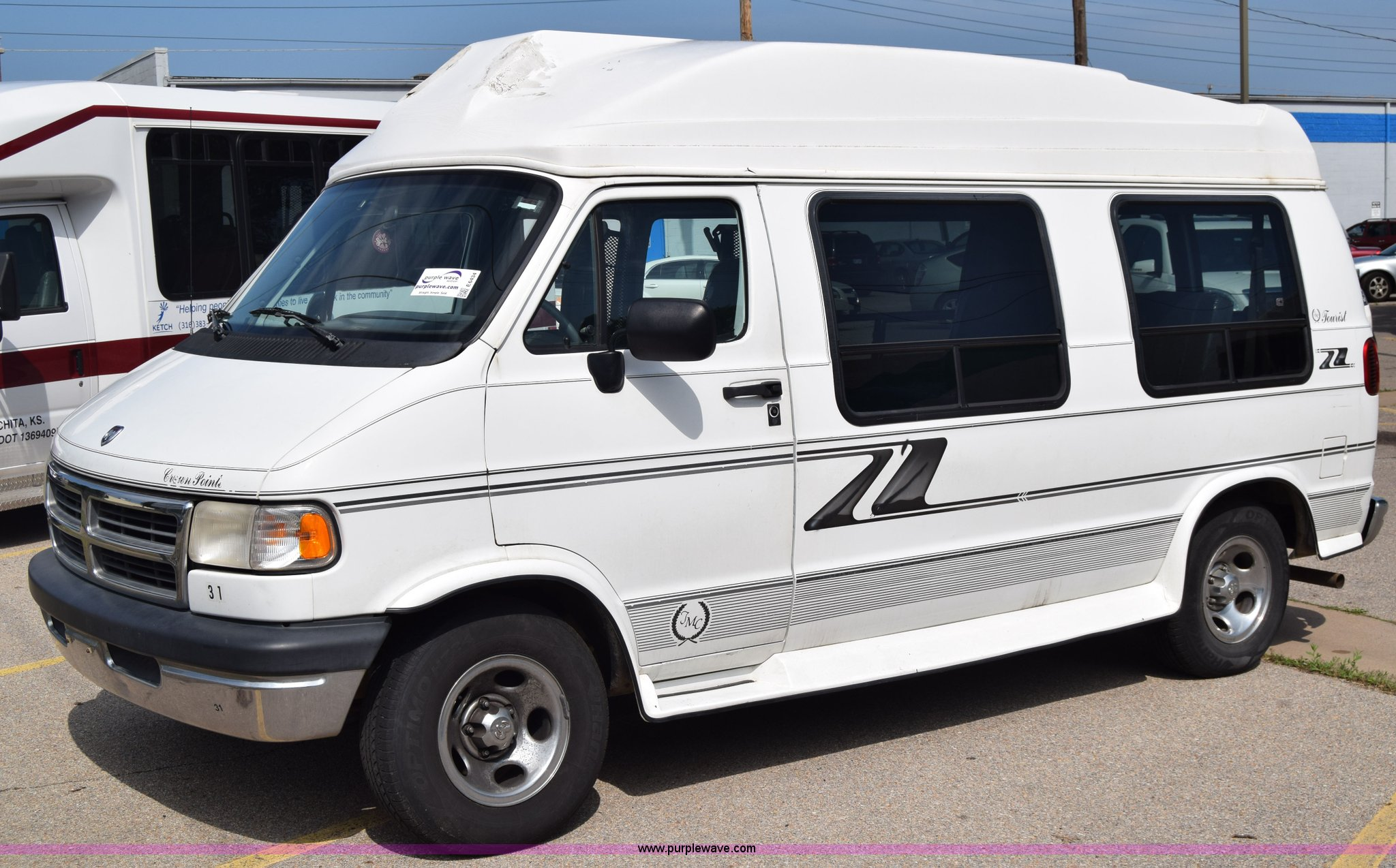 1996 Dodge Ram Van 2500 Van In Wichita Ks Item E6434 Sold Purple Wave