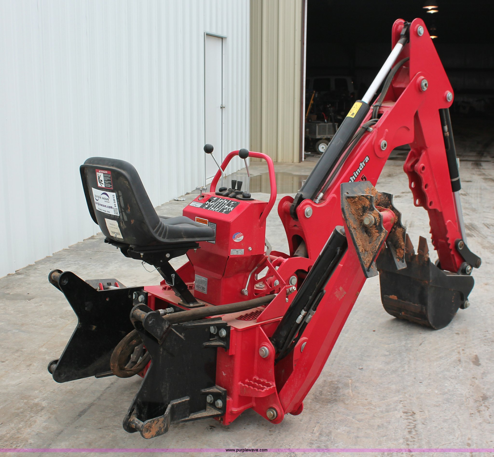 Mahindra 595 backhoe attachment   Item H5815   SOLD! June 3