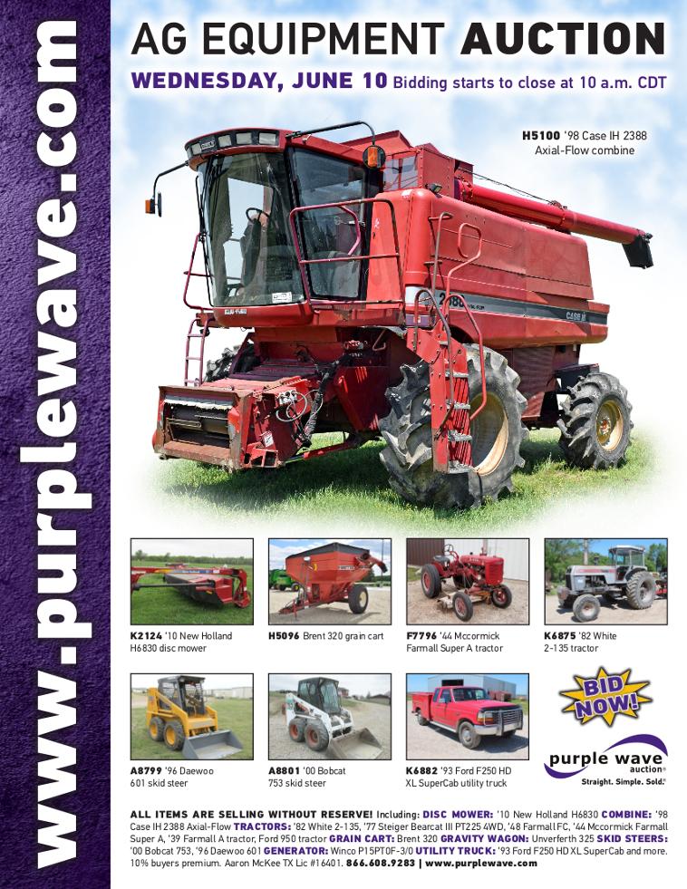 SOLD! June 10 Ag Equipment Auction | PurpleWave, Inc