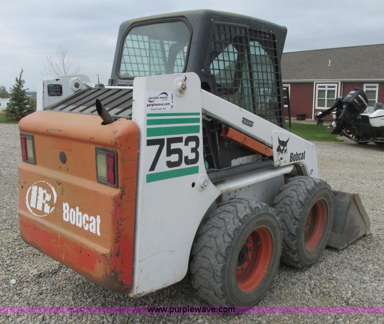 2000 Bobcat 753 skid steer   Item A8801   SOLD! June 10 Ag E