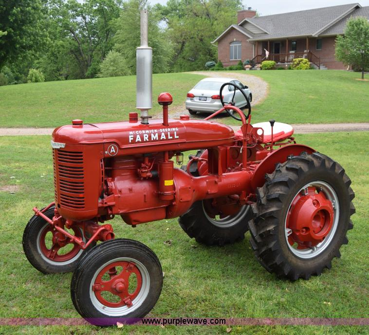 Farm All Tractor : Farmall a tractor item e sold june ag
