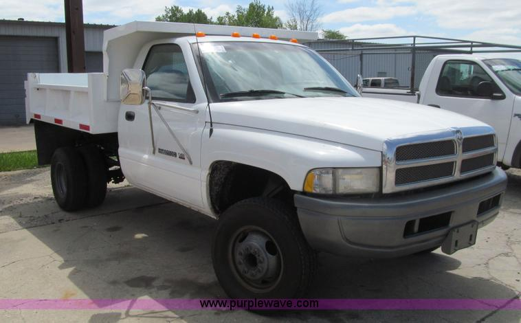 1997 Dodge Ram 3500 Dump Bed Pickup Truck Item K5648 Sol