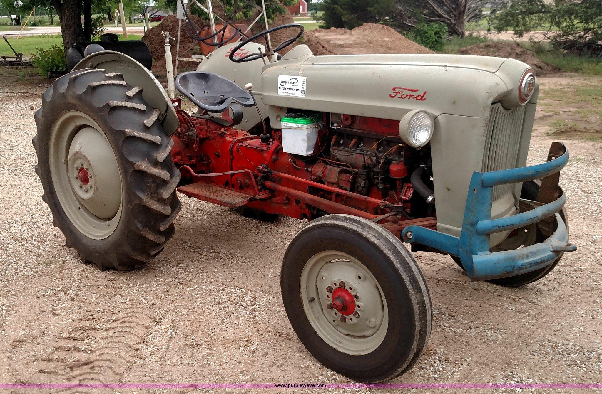 1953 Ford Golden Jubilee Tractor In Argonia Ks Item F7813 Sold