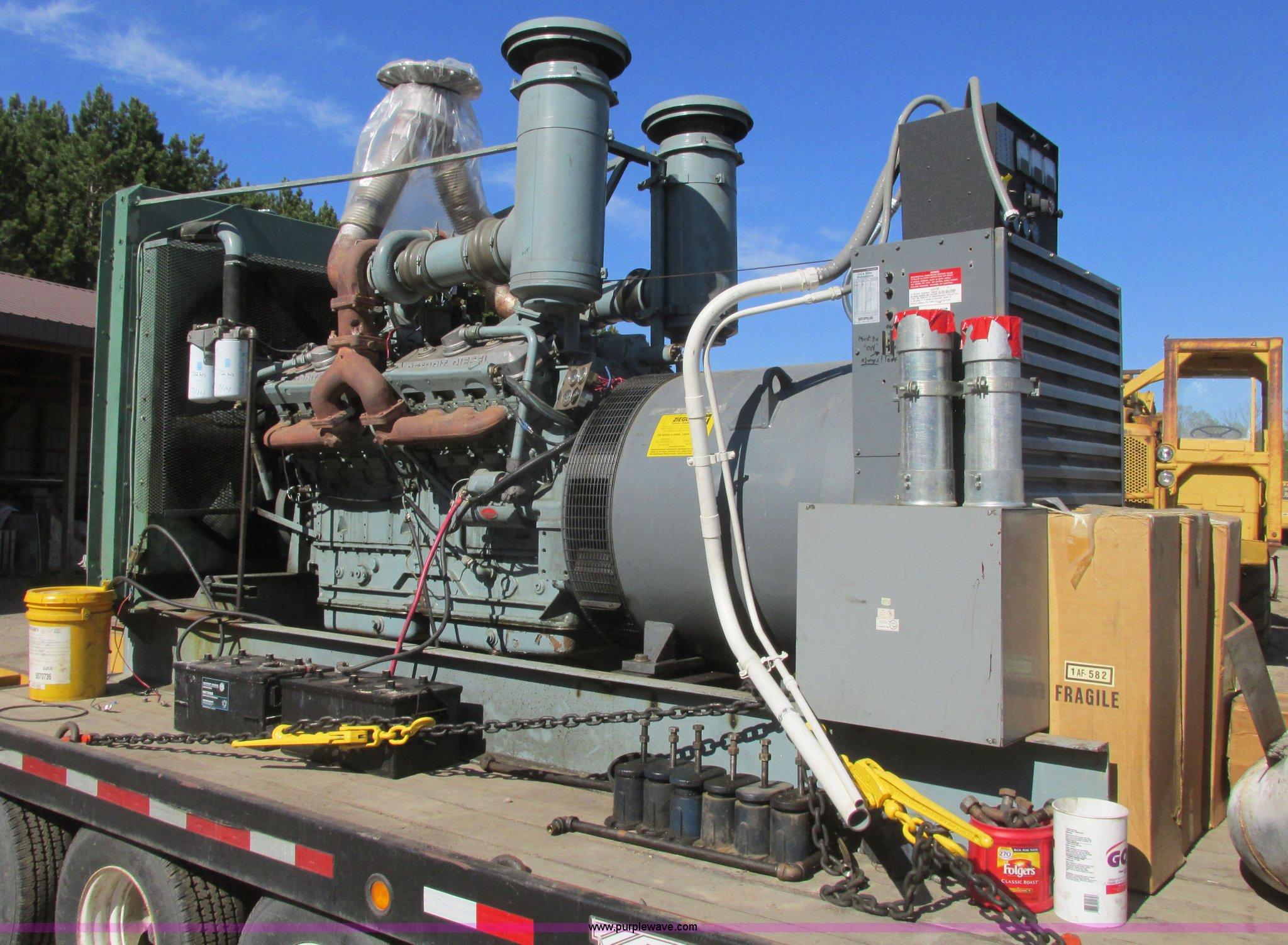 Detroit Diesel generator set   Item A8808   SOLD! June 25 Co