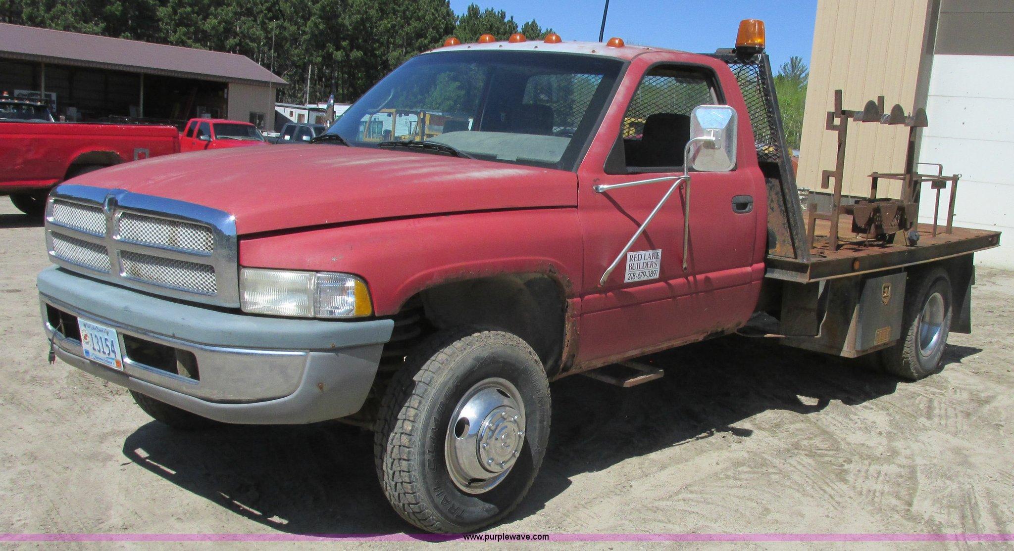 1996 dodge ram 3500 flatbed pickup truck in red lake mn item a8819 sold purple wave 1996 dodge ram 3500 flatbed pickup