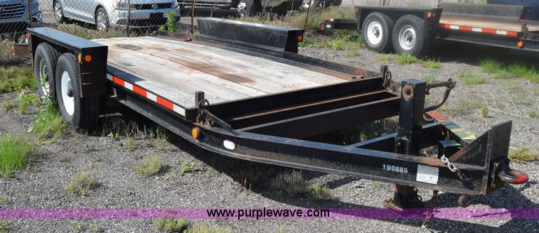 2005 Belshe Tilt Deck Equipment Trailer No Reserve